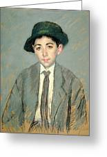 Portrait Of Charles Dikran Kelekian Greeting Card by Mary Stevenson Cassatt