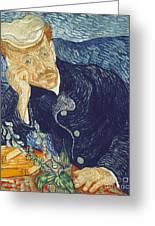 Portrait Of Dr Gachet Greeting Card by Vincent Van Gogh