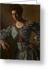 Portrait Of Elizabeth L Burton Greeting Card by Thomas Cowperthwait Eakins