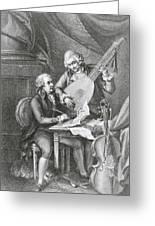 Portrait Of Franz Joseph Haydn Greeting Card by John Francis Rigaud