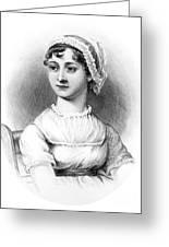 Portrait Of Jane Austen Greeting Card by English School