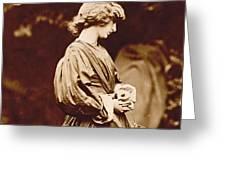 Portrait Of Jane Morris Greeting Card by John Parsons