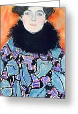Portrait Of Johanna Staude Greeting Card by Gustav Klimt