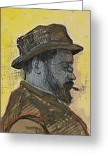 Portrait Of Maximilien Luce Greeting Card by Paul Signac