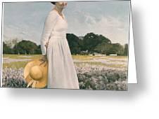 Portrait of Mrs Lyndon B Johnson Greeting Card by Mountain Dreams