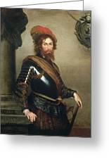 Portrait Of Nicolo Raggi Greeting Card by Bernardo Strozzi
