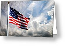Portrait Of The United States Of America Flag Greeting Card by Bob Orsillo
