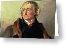 Portrait Of Thomas Jefferson Greeting Card by Thomas Sully