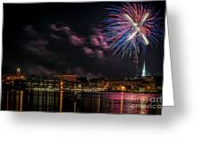 Portsmouth Nh Fireworks 2013 Greeting Card by Scott Thorp