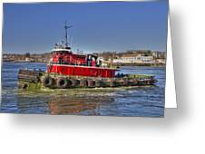 Portsmouth Tug Greeting Card by Joann Vitali
