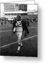 Jim Brown Greeting Card by Retro Images Archive