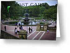Postcard From Central Park Greeting Card by Madeline Ellis
