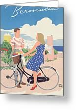Poster Advertising Bermuda Greeting Card by Adolph Treidler