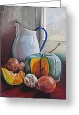 Potential Pumpkin Soup Greeting Card by Lynda Robinson