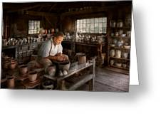 Potter - Raised In The Clay Greeting Card by Mike Savad