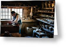 Potters Shed Greeting Card by Scott Thorp