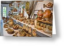 Pottery In La Borne Greeting Card by Oleg Koryagin