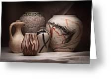 Pottery Still Life Greeting Card by Tom Mc Nemar