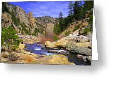 Poudre Canyon Greeting Card by Bob Beardsley