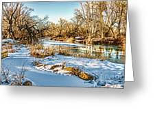 Poudre Dusk Greeting Card by Baywest Imaging