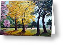 Poui Trees In The Savannah Greeting Card by Karin  Dawn Kelshall- Best