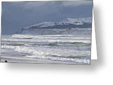 Pounding Waves Greeting Card by Tim Grams