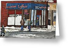 Poutine Lafleur On Wellington Greeting Card by Reb Frost