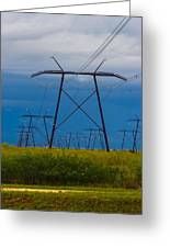 Power Towers Greeting Card by Ed Gleichman