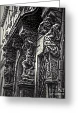 Prague Caryatids Greeting Card by Gregory Dyer
