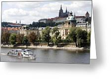 Prague Castle Greeting Card by Haleh Mahbod