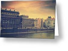Prague Days Greeting Card by Taylan Soyturk