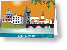 Prague Greeting Card by Karen Young