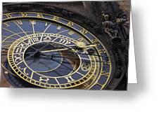 Prague Orloj Greeting Card by Adam Romanowicz
