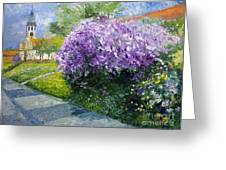 Prague Spring Loreta Lilacs Greeting Card by Yuriy Shevchuk