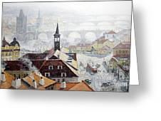 Praha Early Spring Greeting Card by Yuriy Shevchuk
