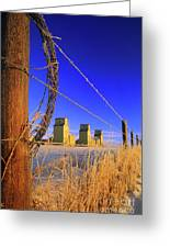 Prairie Grain Elevators Greeting Card by Bob Christopher