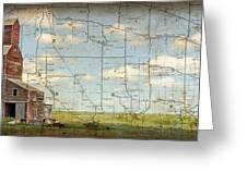 Prairie Panorama Greeting Card by Judy Wood