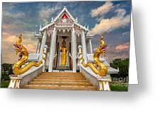 Pranburi Temple Greeting Card by Adrian Evans