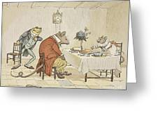 Pray Miss Mouse Will You Give Us Some Beer Greeting Card by Randolph Caldecott