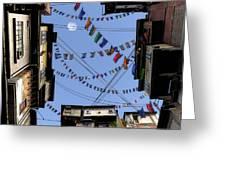 Prayer Flags Greeting Card by Cynthia Decker