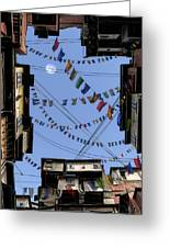 Prayer Flags Greeting Card by Cynthia Decker