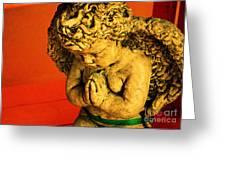 Praying Angel Greeting Card by Susanne Van Hulst