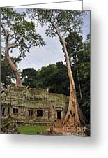 Preah Khantemple At Angkor Wat Greeting Card by Sami Sarkis