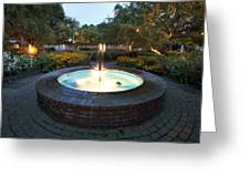 Prescott Fountain Greeting Card by Eric Gendron