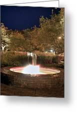 Prescott Park Fountain Greeting Card by Joann Vitali