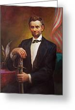 President Abraham Lincoln Greeting Card by Svitozar Nenyuk