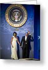 President And Michelle Obama Greeting Card by had J McNeeley