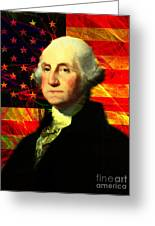 President George Washington V2 M20 Greeting Card by Wingsdomain Art and Photography