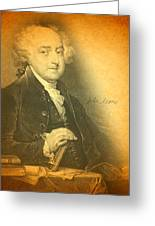President John Adams Portrait And Signature Greeting Card by Design Turnpike