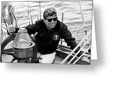 President John Kennedy Sailing Greeting Card by War Is Hell Store